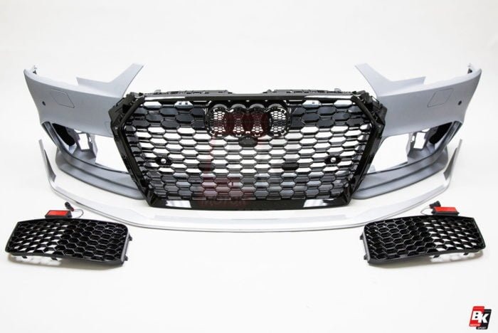 BKM Front Bumper Kit with Front Grille (RS Style), fits Audi A4/S4 B9