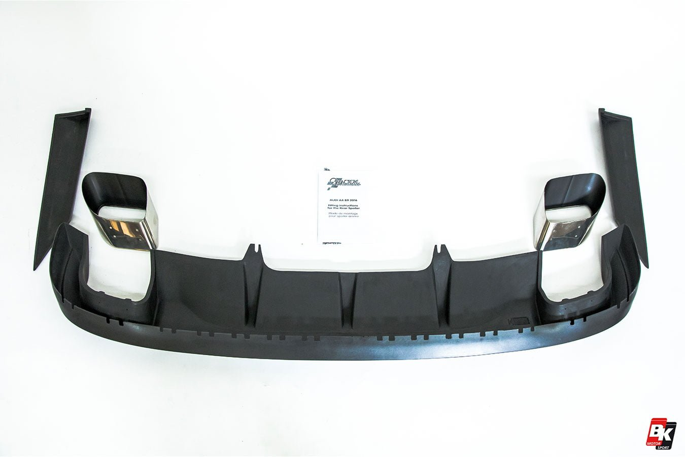 Caractere Rear Diffuser with Integrated Exhaust Tips, fits Audi A4 B9 2.0 TFSI