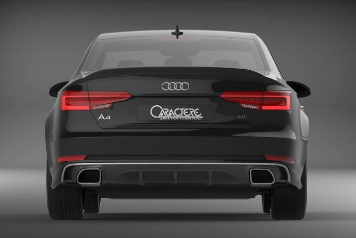 Caractere Rear Diffuser with Integrated Exhaust Tips, fits Audi A4 B9 S-Line 2.0 TFSI