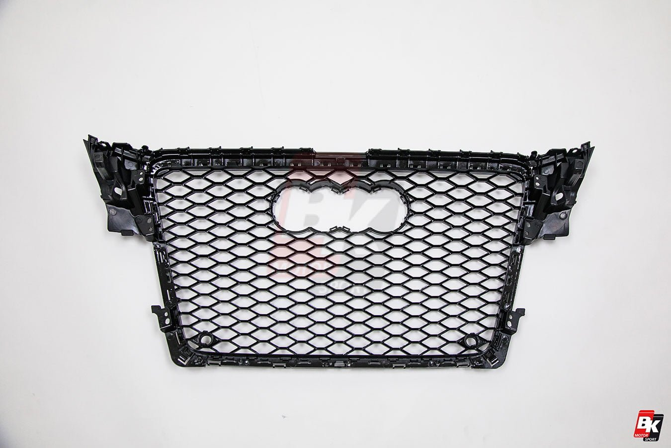 BKM Front Grille with Black Frame (RS4 Style), fits Audi A4/S4 B8.0