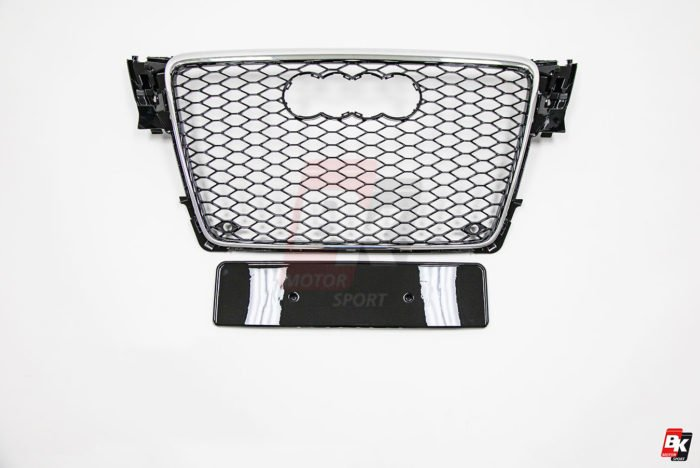 BKM Front Grille with Chrome Frame (RS4 Style), fits Audi A4/S4 B8.0