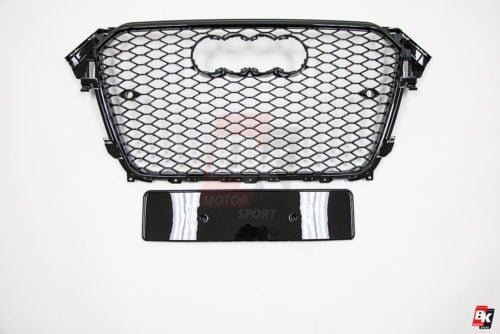 BKM Front Grille with Black Frame (RS Style), fits Audi A4/S4 B8.5