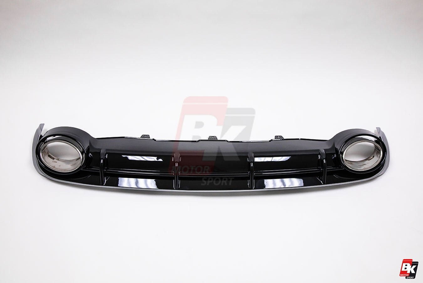 BKM Rear Diffuser (RS Style - Glossy Black), fits Audi A6 C7.0