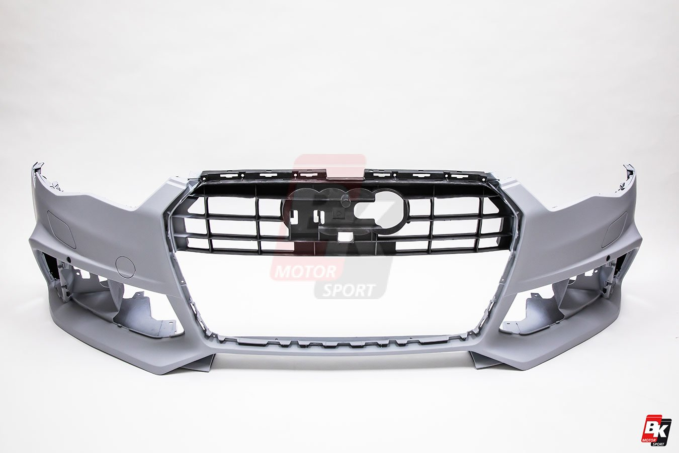 BKM Front Bumper Kit with Front Grille (RS Style - Carbon), fits Audi A6/S6 C7.5