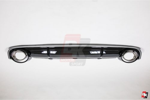 BKM Rear Diffuser (RS Style - Glossy Black), fits Audi A7 C7.5