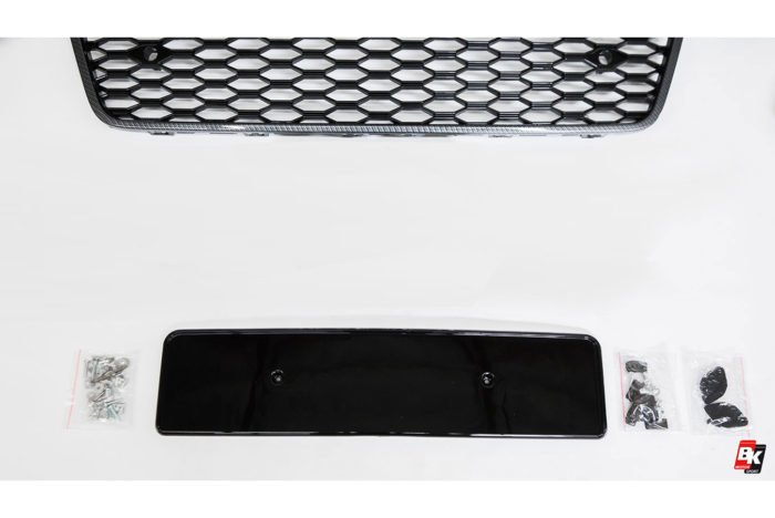 BKM Front Bumper Kit with Front Grille (RS Style - Carbon), fits Audi A7/S7 C7.5