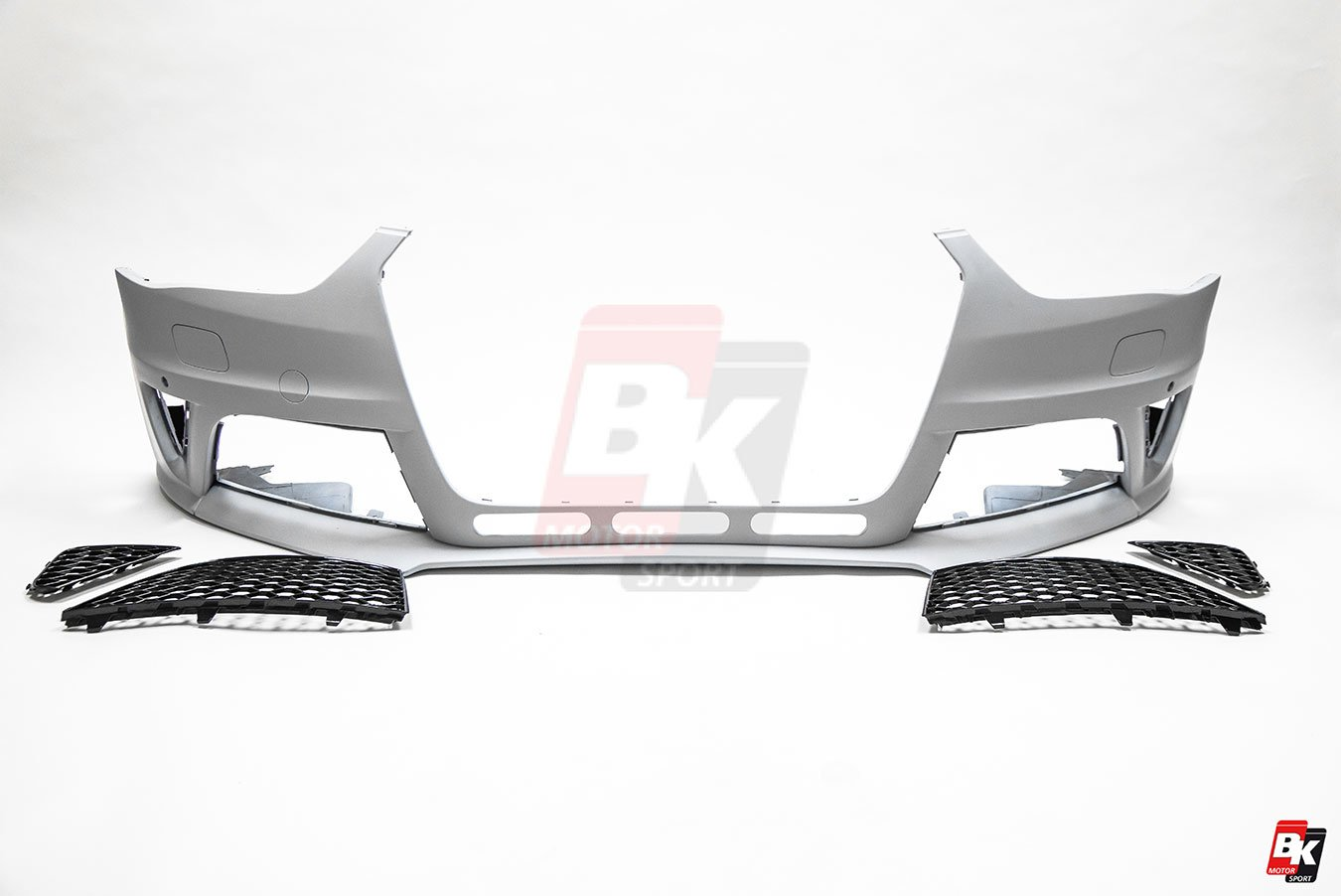 BKM Front Bumper Kit without Front Grille (RS Style), fits Audi A4/S4 B8.5