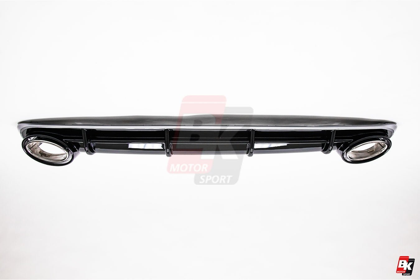 BKM Front Bumper Kit with Front Grille and Rear Diffuser (RS Style - Glossy Black), fits Audi A6/S6 C7.0