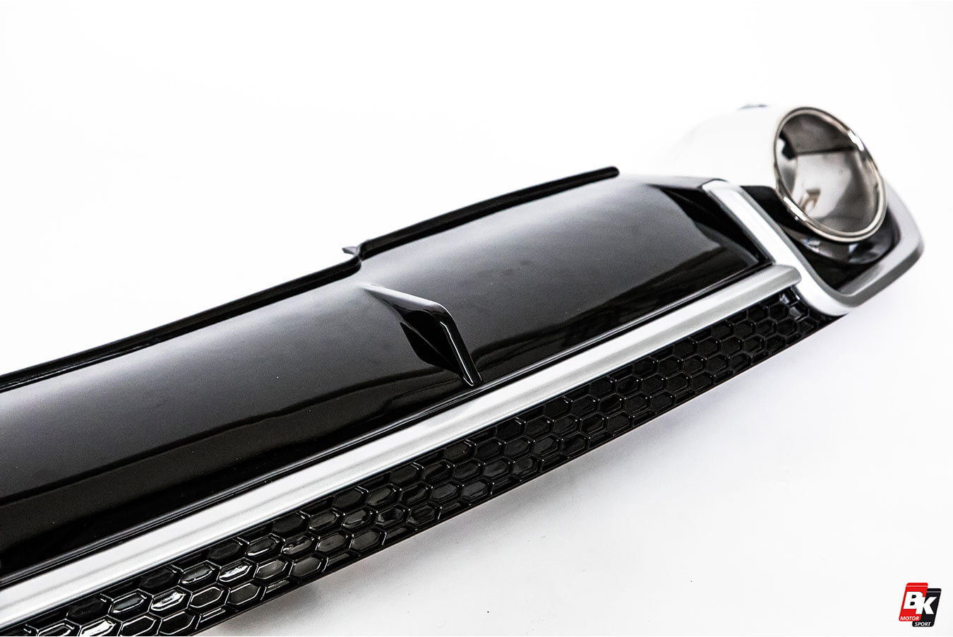 BKM Rear Diffuser (RS Style - Glossy Black), fits Audi A4 B9