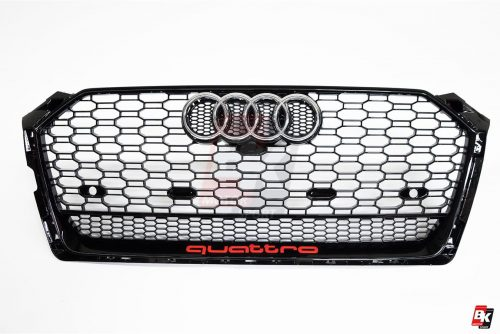 BKM Front Grille with Black Frame (RS5 Style), fits Audi A5/S5 B9