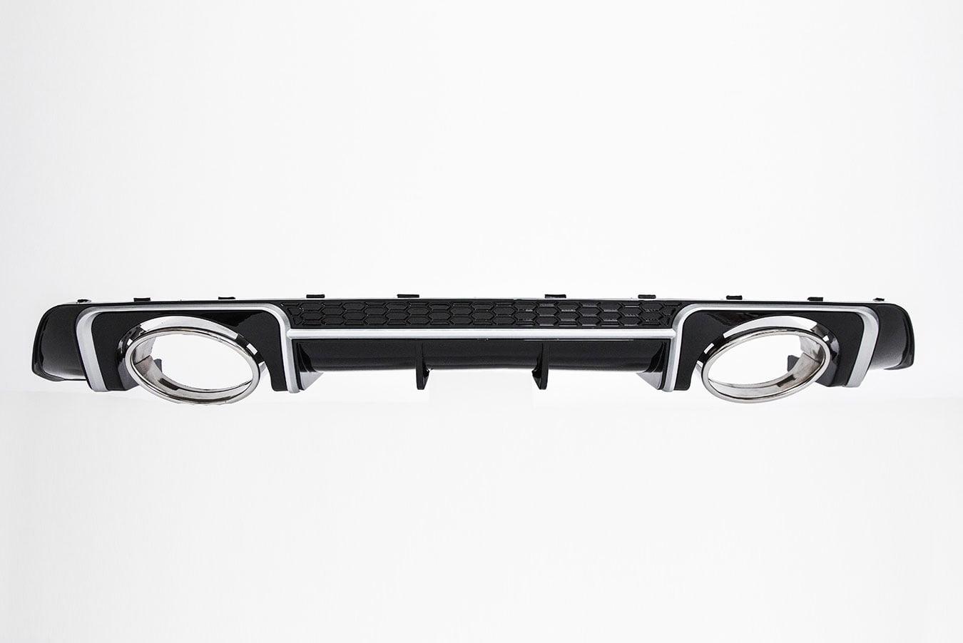 BKM Rear Diffuser (RS Style - Glossy Black), fits Audi TT/TTS Mk3