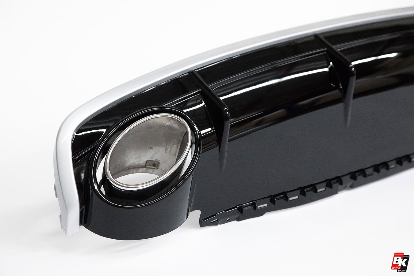 BKM Rear Diffuser (RS Style - Glossy Black), fits Audi Q7 4M