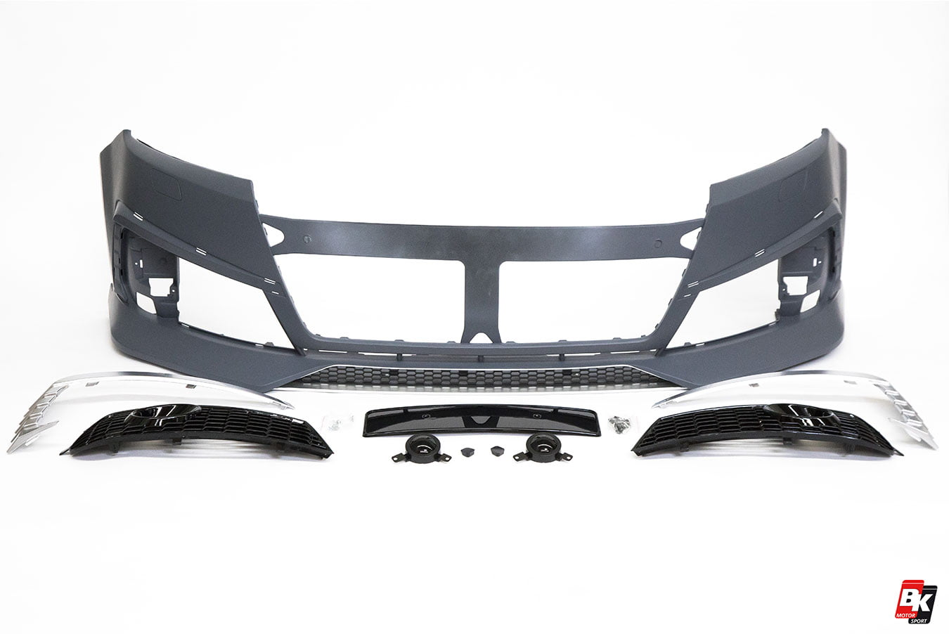 Bkm Front Bumper Kit With Grille Rs Style Glossy Black Audi Q7 Headlight Wiring Harness Fits