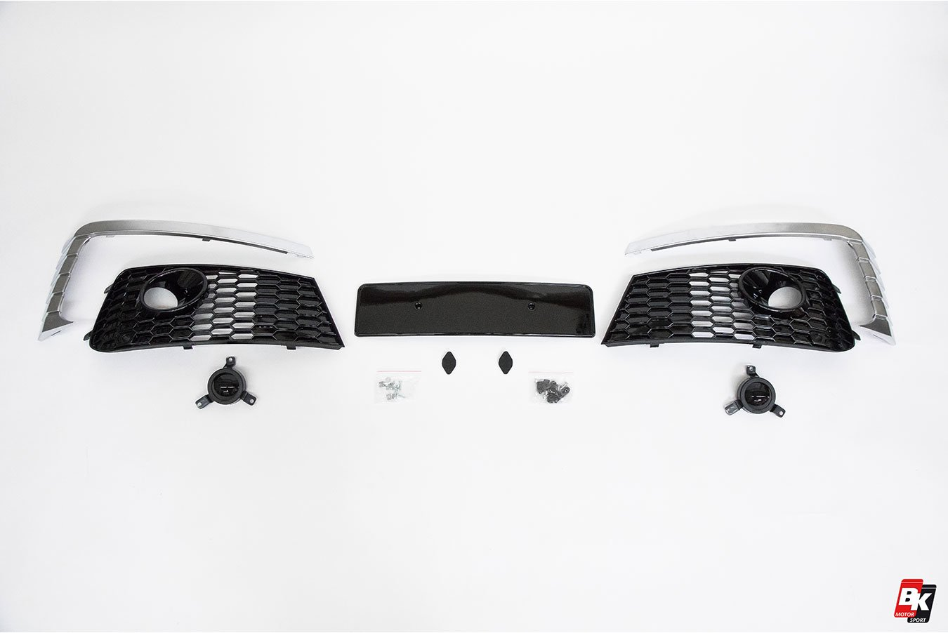 BKM Front Bumper Kit with Front Grille (RS Style - Glossy Black), fits Audi Q7 4M