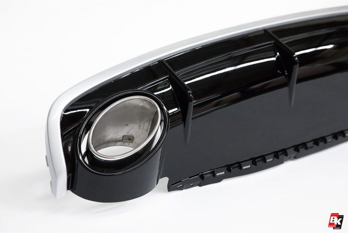 BKM Front Bumper Kit with Rear Diffuser (RS Style - Glossy Black), fits Audi Q7 4M