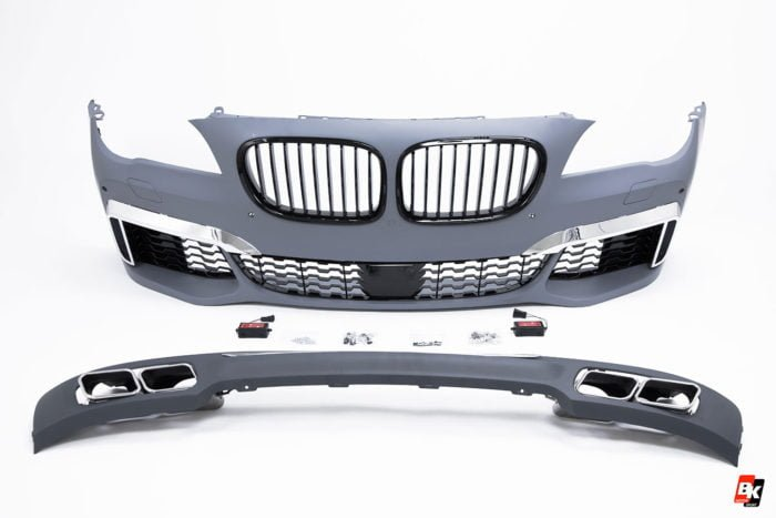 BKM Front Bumper and Rear Diffuser Set (M760 Style), fits BMW Model 7 F01-F02
