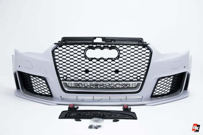 BKM Front Bumper Kit with Front Grille (RS Style), fits Audi A3/S3 8V.0