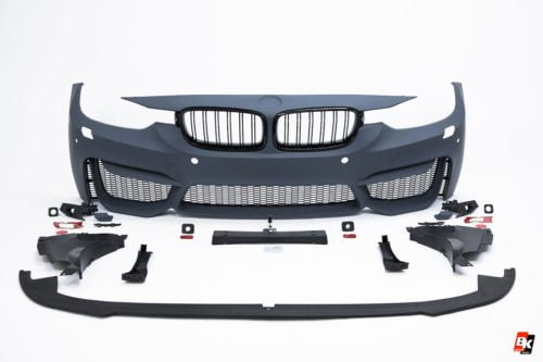 BKM Front Bumper Set (M3 Style), fits BMW Model 3 F30