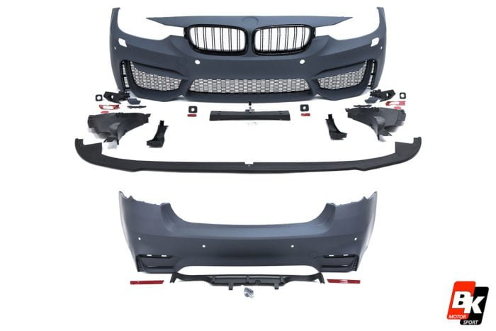 BKM Front and Rear Bumper Set (M3 Style), fits BMW Model 3 F30