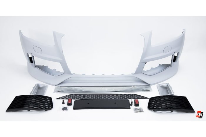 BKM Front Bumper Kit with Black Grille (RSQ5 Style), fits Audi Q5/SQ5 B8.5
