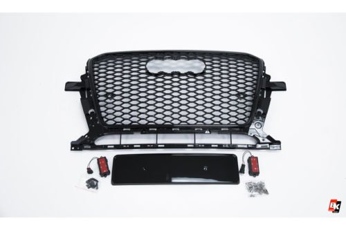 BKM Front Grille with Black Frame (RSQ5 Style), fits Audi Q5 B8.5