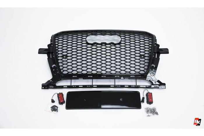 BKM Front Grille with Black Frame (RSQ5 Style), fits Audi Q5/SQ5 B8.5