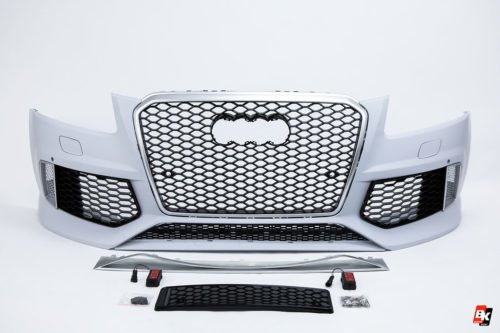 BKM Front Bumper Kit with Silver Grille (RSQ5 Style), fits Audi Q5/SQ5 B8.5