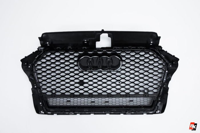 BKM Front Grille with Black Frame (RS3 Style), fits Audi A3/S3 8V.0
