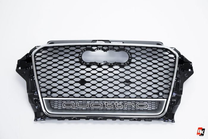 BKM Front Grille with Chrome Frame (RS3 Style), fits Audi A3/S3 8V.0