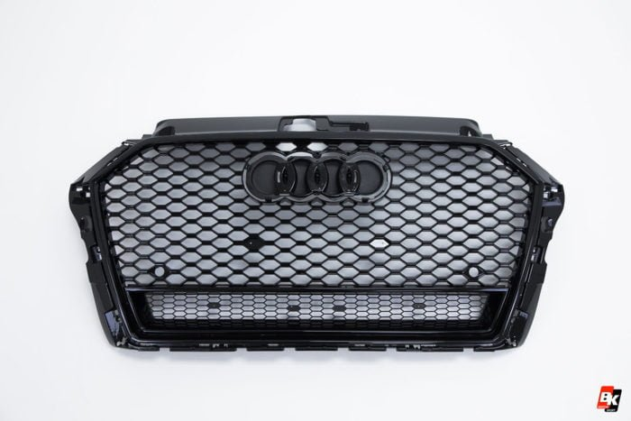 BKM Front Grille with Black Frame (RS3 Style), fits Audi A3/S3 8V.5