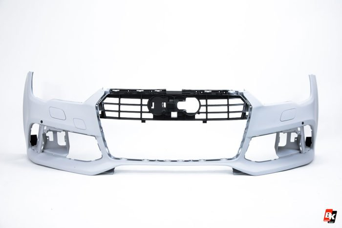 BKM Front Bumper Kit with Front Grille (RS Style – Black), fits Audi A7/S7 C7.5