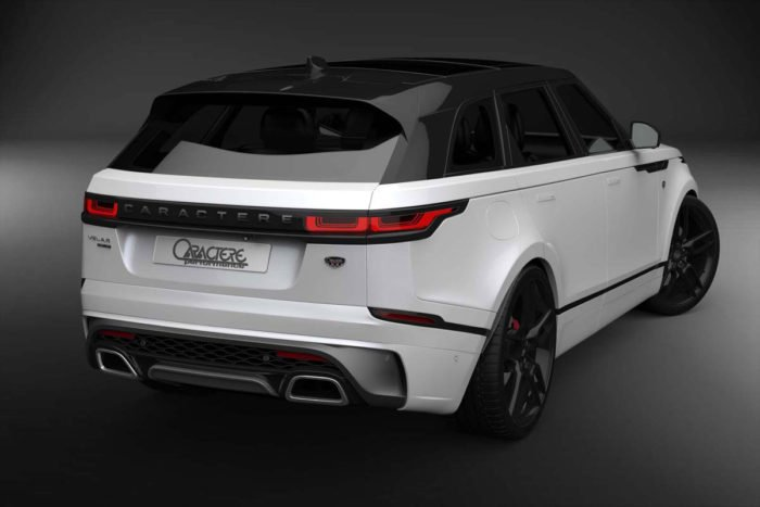 Range Rover Velar Rear Bumper with Left Exhaust Tip