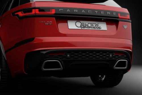 Caractere Rear Bumper with Left Exhaust Tip, fits Range Rover Velar
