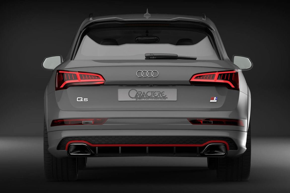 Caractere Rear Bumper Option for Vehicles with Tow Bar, fits Audi Q5/SQ5 B9