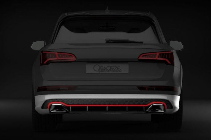 Caractere Rear Bumper with Integrated Exhaust Tips, fits Audi Q5/SQ5 B9