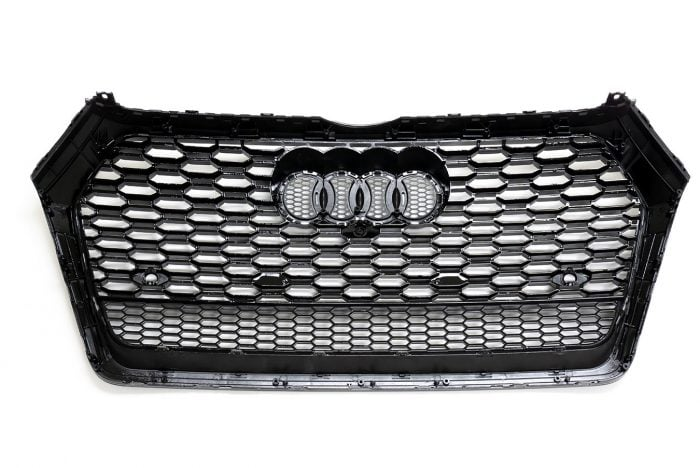 BKM Front Grille with Black Frame, fits Audi Q5/SQ5 B9.0