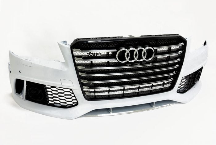 BKM Front Bumper Kit with Front Grille, fits Audi A8/S8 D4.0