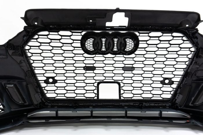 BKM Front Bumper Kit with Front Grille and Lip for Cars with ACC, fits Audi A3/S3 8V.5