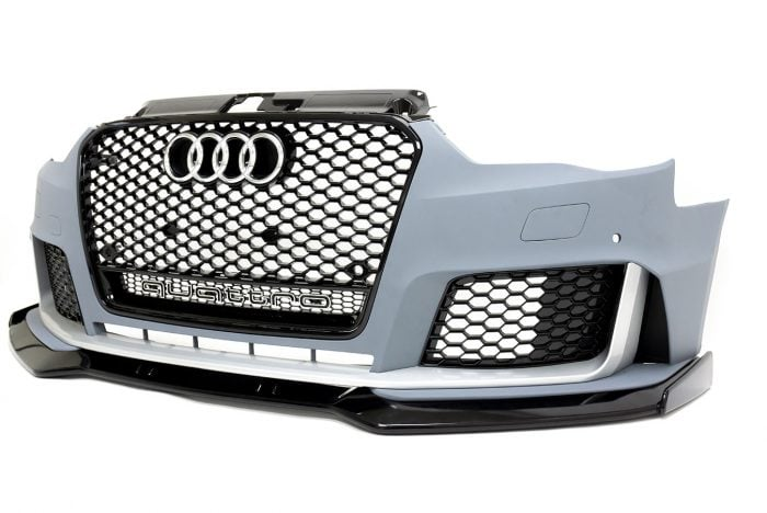 BKM Front Bumper Kit with Front Grille and Lip, fits Audi A3/S3 8V.0