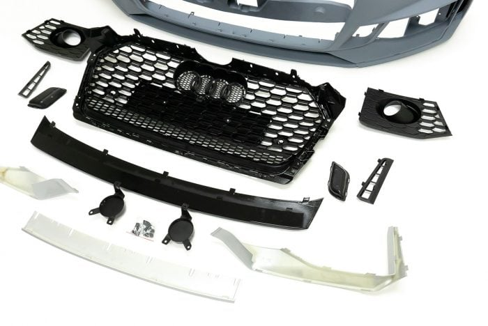 BKM Front Bumper Kit with Front Grille (RS5 Style) for Cars with ACC, fits Audi A5/S5 B9.0