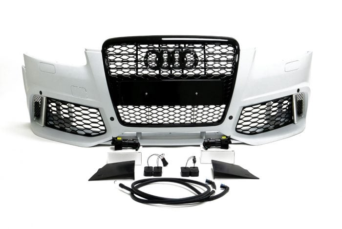 BKM Front Bumper Kit with Front Grille, fits Audi A6 C6.0