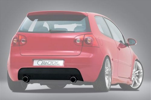Caractere Rear Spoiler with 2 Cutouts, fits Volkswagen Golf 5