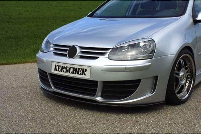 Kerscher Front Bumper Sport Edition with ABS-ribs and Front Grille, fits Volkswagen Golf Mk5
