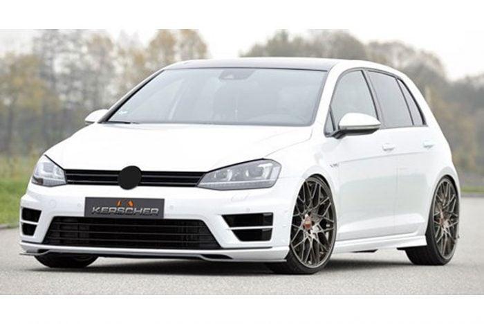 Kerscher Front Spoiler Splitter Carbon, fits Volkswagen Golf Mk7 R