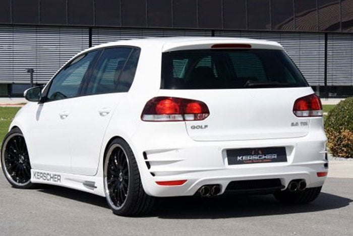 Kerscher Rear Bumper Phoenix with Mesh, fits Volkswagen Golf Mk6