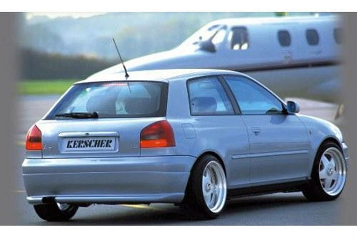 Kerscher Rear Bumper Insert with Cut, fits Audi A3 8L
