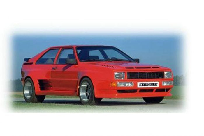 Kerscher Bonnet Sport-Quattro Look, fits Audi Coupé