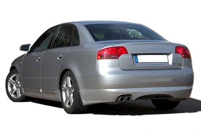 Kerscher Rear Bumper Extension Spirit for Exhaust Left with Carbon Insert, fits Audi A4 B7