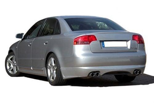 Kerscher Rear Bumper Extension Spirit for Exhaust Left-right with Carbon-Insert, fits Audi A4 B7