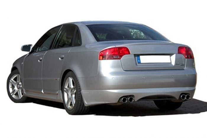 Kerscher Rear Bumper Extension Spirit for Exhaust Left-right with Carbon-Insert, fits Audi A4 B7